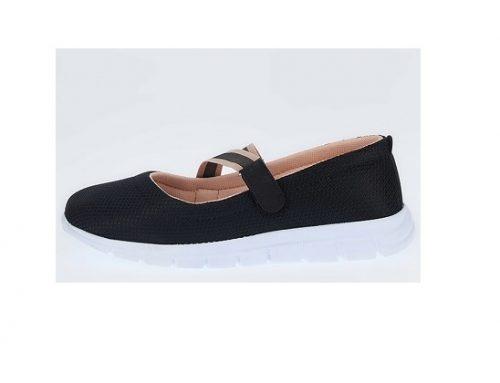 Pantofi negri DeFacto pentru femei casual cu talpă plată și sistem velcro