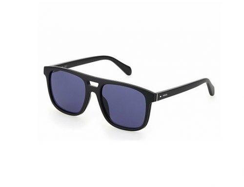 Ochelari de soare WLHFTQ Fossil pentru bărbați polarizați cu lentile albastre și ramă completă
