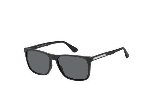 Ochelari de soare Tommy Hilfiger polarizați pentru bărbați, cu lentile gri și ramă rectangulară