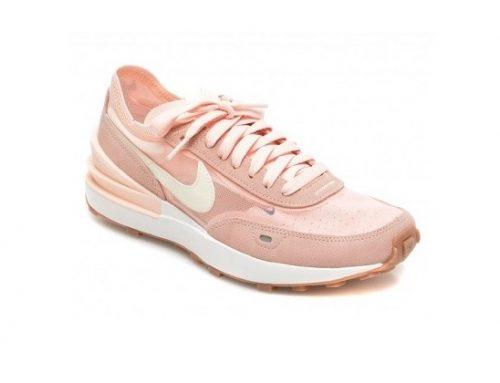 Nike EDLKMS, pantofi sport de damă roz din piele și material textil, cu talpă plată