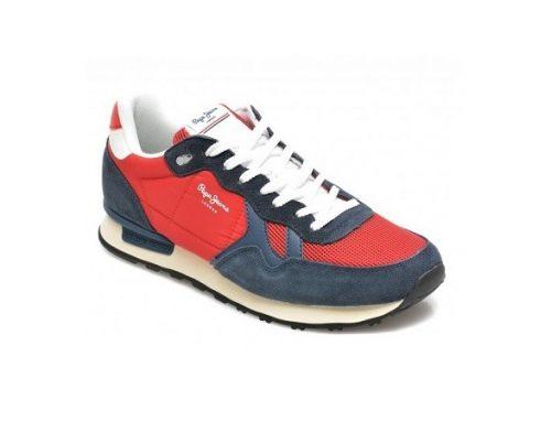 Pantofi sport Pepe Jeans Britt Man pentru bărbați din piele naturală întoarsă, cu talpă plată