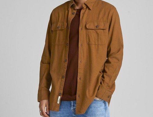 Jack & Jones SDBFMQ, cămașă casual pentru bărbați, maro, din bumbac și cu mânecă lungă