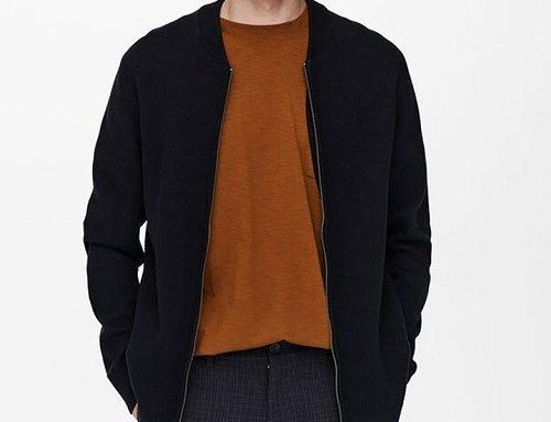 Cardigan din bumbac Only & Sons pentru bărbați drept cu fermoar și aspect texturat