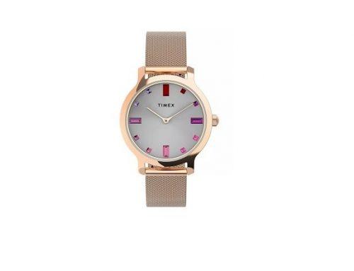 Ceas SLGKWH Timex de damă casual cu brățara din metal, 5ATM și carcasă rotundă