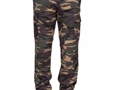 Pantaloni bărbați LHSWQH Solognac din bumbac cu imprimeu camuflaj și talie elastică