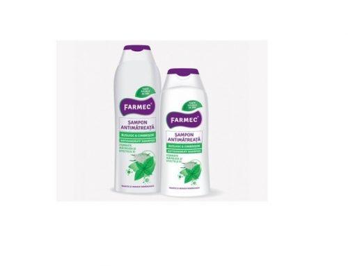 Șampon Farmec antimătreață hidratant și reparator, cu extract de cimbrișor și busuioc
