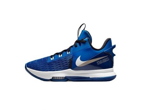 Pantofi sport înalți WNFHF Nike LeBron pentru bărbați albaștri cu talpă intermediară