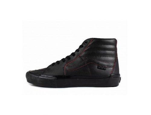 Vans Skate GDHWLB, pantofi sport înalți pentru bărbați, negri, din piele și cu talpă plată