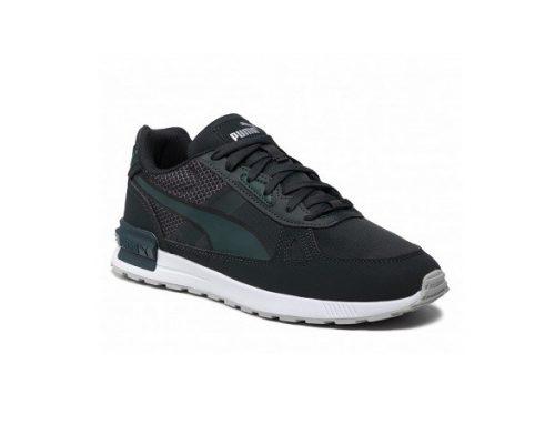 Puma Sportstyle FJFBHLS, pantofi sport pentru bărbați din piele sintetică, verzi, cu talpă plată