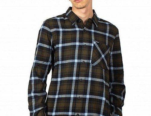 Volcom Caden FJGDEW, cămașă în carouri pentru bărbați, din bumbac și cu mâneci lungi