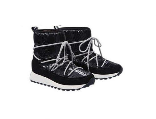 Cizme MDVFBS Pepe Jeans de damă impermeabile scurte negre cu talpă antiderapantă