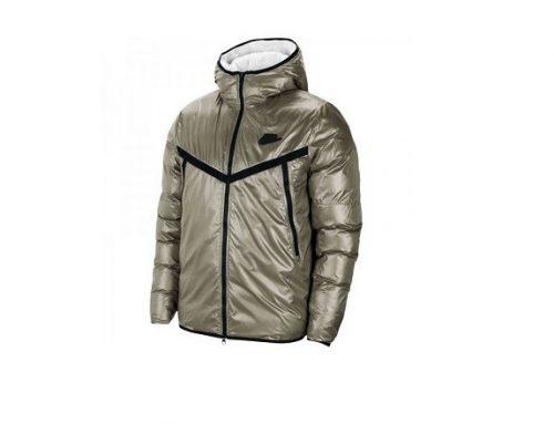 Nike Syn MKJFD, geacă scurtă pentru bărbați din fâș matlasat cu glugă și guler înalt