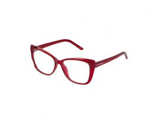 Ochelari DSMGBK Polarizen de damă protecție calculator, roșii, cu rama ochi de pisică