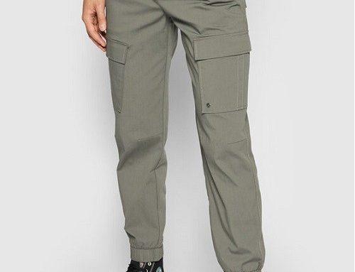 Pantaloni DKGFJF Only & Sons pentru bărbați stil Cargo, gri, din bumbac și cu terminație elastică