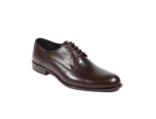 Pantofi eleganți KGYJND Alyas LaScarpa pentru bărbați, maro, din piele naturală cu talpă joasă