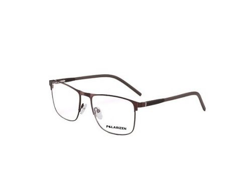 Rame din metal MFHCH Polarizen ochelari de vedere bărbați, pătrată, maro