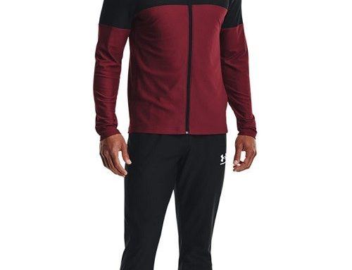 Trening de fotbal și fitness Under Armour pentru bărbați, negru, cu bluză cu fermoar